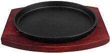 UPKOCH Teppanyaki Plaque de cuisson ronde