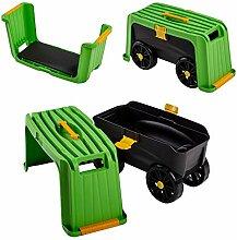 UPP Siege ou tabouret de jardinage sur roues 4 en