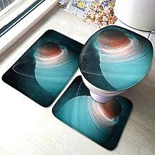 Uranus Lot de 3 tapis de salle de bain