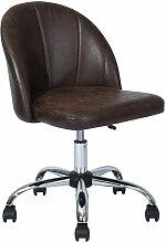 Urban Meuble - Chaise De Bureau Marron Vintage
