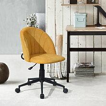 Urban Meuble - Chaise De Bureau Roulette Jaune
