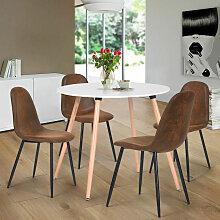 Urban Meuble - Ensemble table à manger ronde et