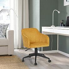 Urban Meuble - Fauteuil de bureau jaune tissu
