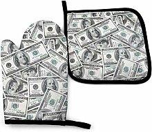 US Dollars Money Mignon Lutra Mitaines De Four Et