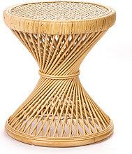 Ushuaia - Table d'appoint vintage en rotin S