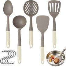 Ustensile de cuisine antiadhésif, spatule fendue,