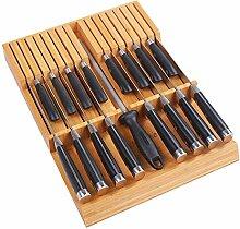 Utoplike Bloc à couteaux de cuisine en bambou