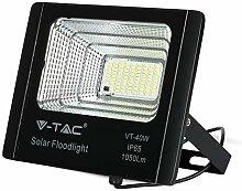V-TAC Projecteur LED 40 W avec panneau solaire et