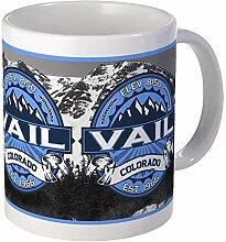 Vail Blue Mug en céramique 11 oz café tasse à