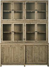 Vaisselier 10 portes finition blanchie