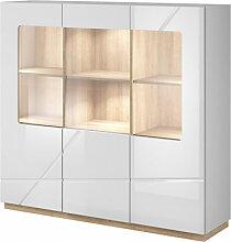 Vaisselier 3 portes avec éclairage LED FUTURA