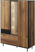 Vaisselier 3 portes avec vitrine et éclairage
