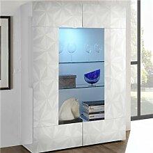 Vaisselier design blanc laqué PAOLO sans