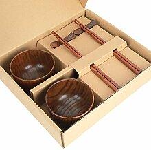 Vaisselle bol à riz-bol en bois-style japonais