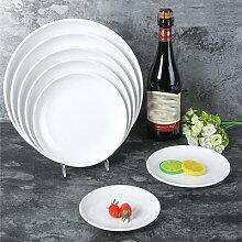 Vaisselle en mélamine Imitation porcelaine plat