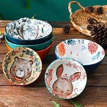 Vaisselle en porcelaine de cuisine, bol de riz de