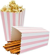 Vaisselle jetable en Chevron, boîtes à Popcorn