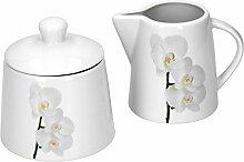Van Well Vanda Orchidée blanche 2 pièces Sucrier