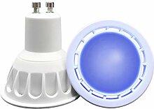 VARICART Ampoule LED de Couleur Bleu GU10 COB, 6W