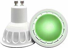 VARICART Ampoule LED de Couleur Verte GU10 COB, 6W