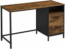 VASAGLE Bureau avec caisson, Table d'ordinateur