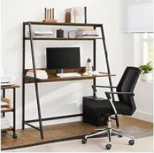 Vasagle bureau, table, avec étagère de rangement