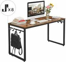 Vasagle bureau, table, poste de travail, avec 8