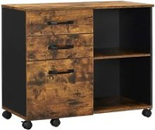 Vasagle caisson 3 tiroirs, meuble rangement bureau