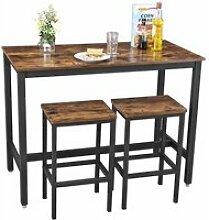 VASAGLE Lot table et chaises de bar, table haute