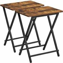 Vasagle petites tables pliantes, lot de 2 tables