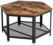 VASAGLE Table Basse Vintage, Table d'appoint,