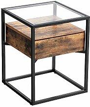 VASAGLE Table d'appoint, Table de Chevet, Bout