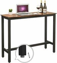 Vasagle table de bar, table haute fine, table de