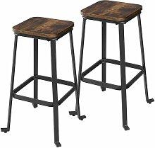 VASAGLE Tabourets de bar, lot de 2 Chaises hautes,