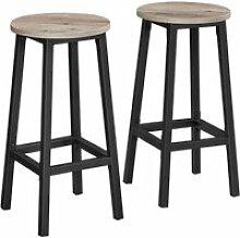 Vasagle tabourets hauts, lot de 2, chaises de bar,