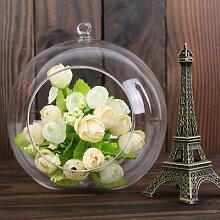 Vase à boule de verre suspendu créatif, Pot de