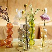 Vase à bulles en verre pour décoration de