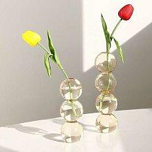 Vase à fleurs en boule de cristal, bouteille en
