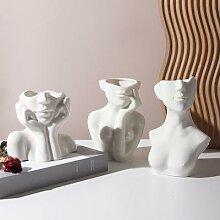 Vase à fleurs en céramique pour femme, modèle
