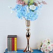 Vase à fleurs en métal, chandelier de route,