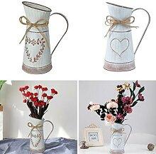 Vase à fleurs séchées en métal, Pot