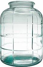 Vase bonbonne art déco transparent