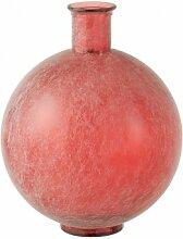 Vase boule verre rouge H44cm