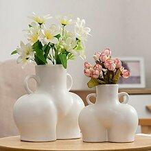 Vase de fleurs séchées en céramique,