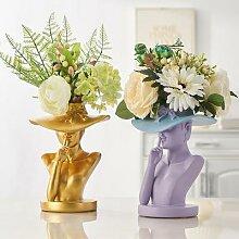 Vase de table en céramique, Statue d'art de