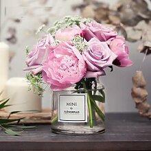 Vase de table en verre, pour décoration de