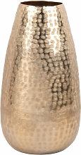 Vase en aluminium martelé doré H31