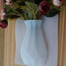 Vase en Silicone mural autocollant, verre magique,