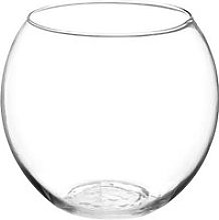 Vase en Verre -Boule- 19cm Transparent