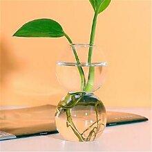 Vase en verre boule de cristal bulle fleur Art